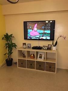 Ikea Kallax Made As A Tv Stand Ikea Kallax Pinterest