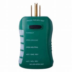 Commercial Electric Gfci Outlet Circuit Analyzer Tester