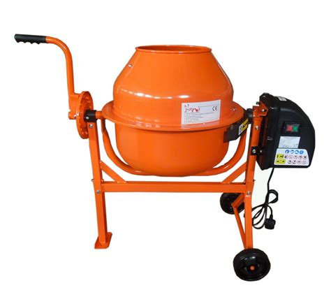 cement mixer electric cement mixer 63l litre 240v volt 220w portable concrete mortar plaster ebay