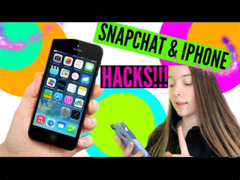 how to work snapchat on iphone iphone snapchat hacks