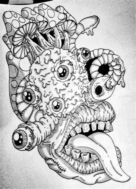 #tattoo #random #doodle #art #psychedelic #mushrooms #eyes