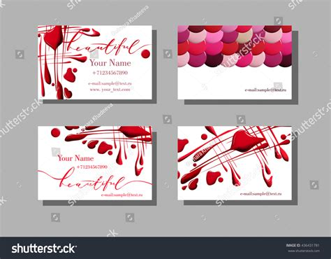 Makeup Artist Business Card Vector Pattern Stock Vector Wood Veneer Business Cards Blank Printable Contoh Card Bakery Kraft Beauty Salon Ideas In Word Templates For Microsoft Vistaprint