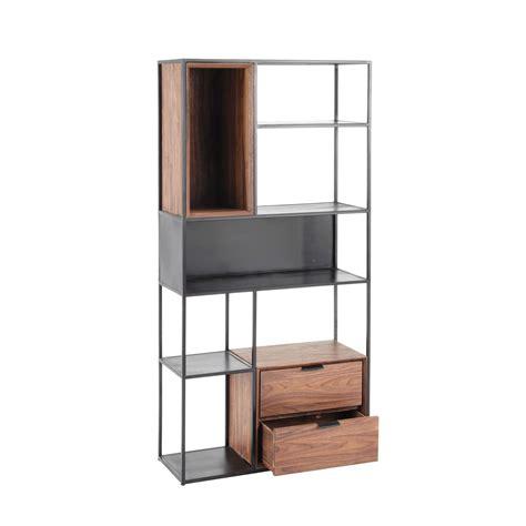 libreria maison du monde scaffale nero stile industriale in metallo nel 2019