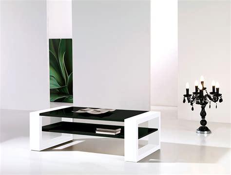 table basse noir et blanc laqu 233 design cinzia