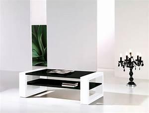 Table Salon Blanc Laqué : table basse noir et blanc laqu design cinzia ~ Teatrodelosmanantiales.com Idées de Décoration