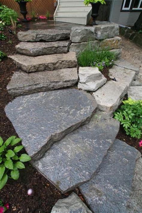 flagstone step flagstone steps home outdoor living landscaping pinterest
