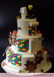 corpse cake topper lego fall themed wedding cake wedding cakes
