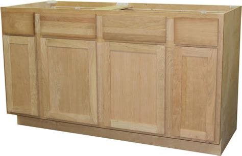 quality one 60 quot x 34 1 2 quot unfinished cherry sink base
