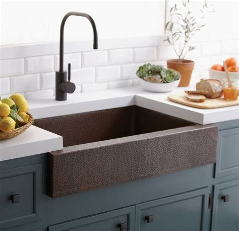 Kitchen Sink Ideas - stainless steel farmhouse sink with towel bar the kienandsweet furnitures stainless steel