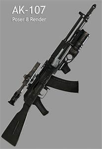 AK-107 - Poser Military DAZ Bryce Carrara Themed SCI-FI ...