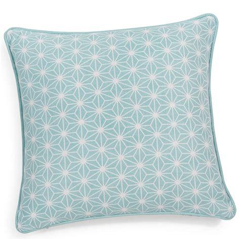 chambre bébé bleu turquoise housse de coussin en coton bleue 40 x 40 cm maisons