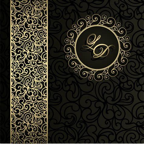 black  gold leaf monogram background welovesolo