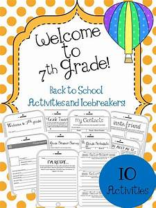7th Grade Back to School Activities and Icebreakers | New ...