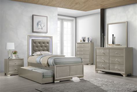 lyssa twin trundle bedroom set  furniture place