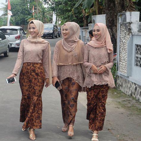 model kebaya modern brokat rok batik solo model pakaian