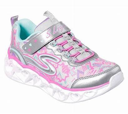 Skechers Heart Lights Trainers Schuhe Smlt Blinker