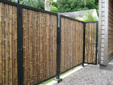 how to cover a chain link fence for privacy black bamboo fencing tropical home fencing and gates other metro by bamboo innovations