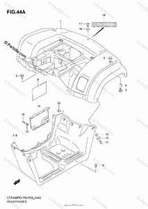 Suzuki Atv 2005 Oem Parts Diagram For Rear Fender  Model