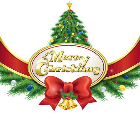 Christmas Tree Clipart Merry Christmas