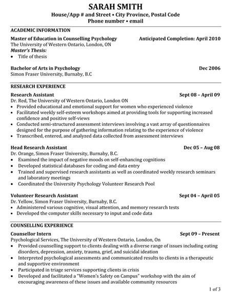 phd candidate resume sle gallery creawizard