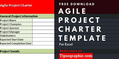 agile project charter template  excel