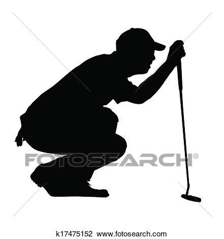 clipart golfen sport silhouette golfspieler