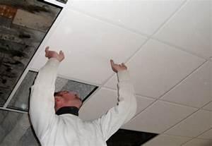 Poser Du Lambris Dans Les Combles : j 39 installe un faux plafond dans du b ton m6 ~ Premium-room.com Idées de Décoration