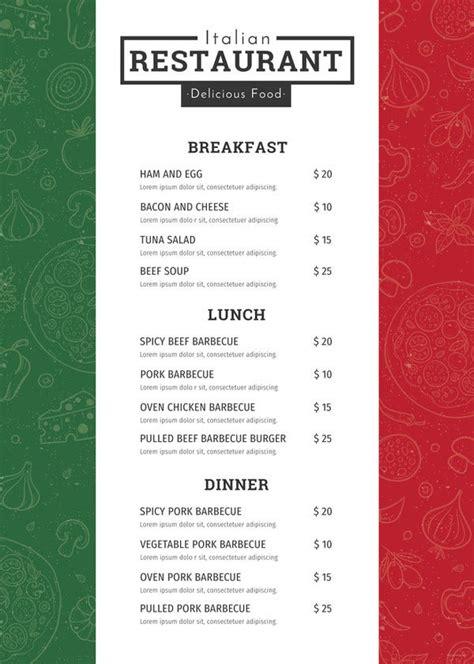 restaurant menu template   psd eps documents
