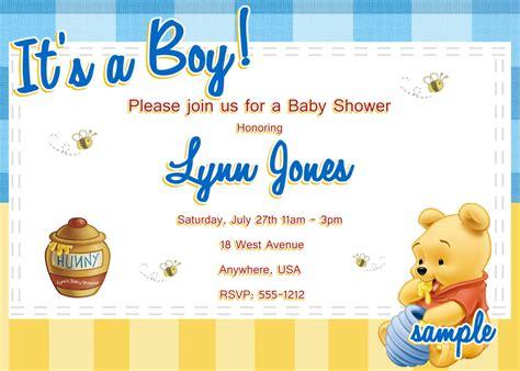 winnie  pooh baby shower invitations  createphotocardsu
