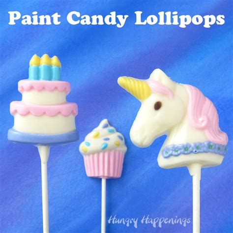 color white chocolate  candy melts paint lollipops video