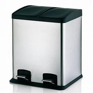 poubelle 2 compartiments wikiliafr With poubelle de tri cuisine