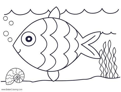 sea coloring pages easy drawing  printable