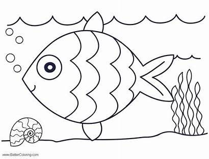 Sea Under Coloring Pages Easy Drawing Printable