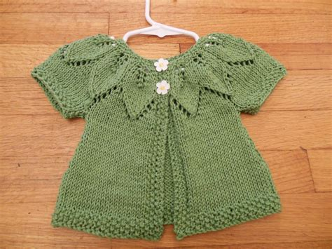 knitting baby sweater state knitting baby leaf sweater