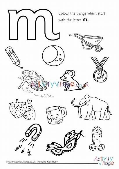 Letter Colouring Start Pages Coloring Printable Preschool