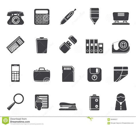 icones de bureau gratuites le bureau simple de silhouette usine des icônes