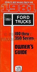 1981 Ford F100 F150 F250 F350 Pickup Truck Foldout Wiring