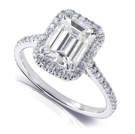 emerald cut moissanite engagement rings  moissanite
