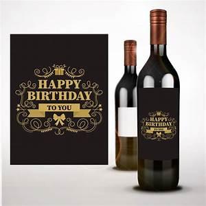happy birthday wine bottle sticker wine label happy birthday With champagne bottle stickers
