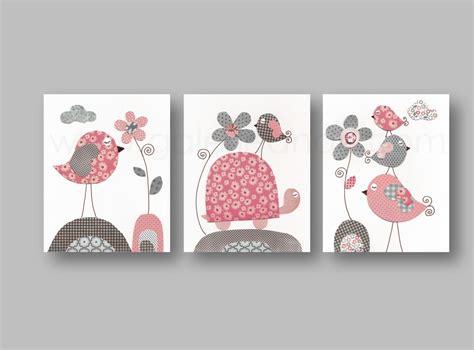 tableau deco chambre fille lot de 3 illustrations pour chambre d 39 enfant et bebe gris