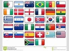 World Cup 2010 Flag Buttons Royalty Free Stock Images