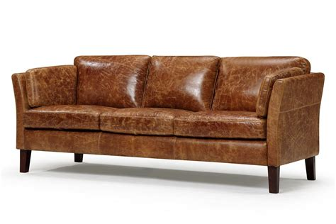 vintage scandinavian style leather sofa downsizing