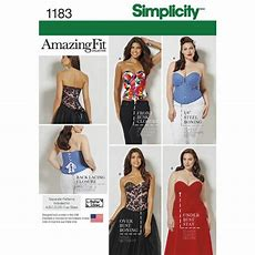 Pattern For Misses' And Plus Size Corsets Simplicity