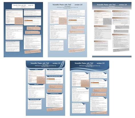 poster samples document classes how to create posters using tex