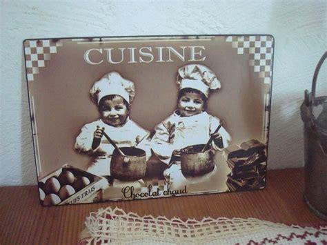 plaque deco cuisine retro