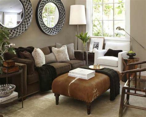 Wohnzimmer Braune Wand by Ein Wohnzimmer In Braun Wirkt Einladend Und Wohnlich