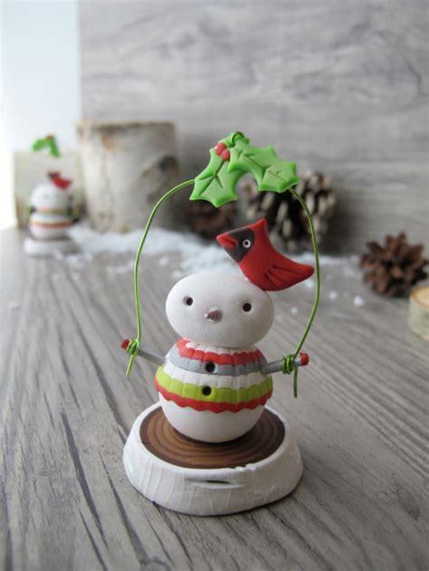 cute clay snowman decor favecraftscom
