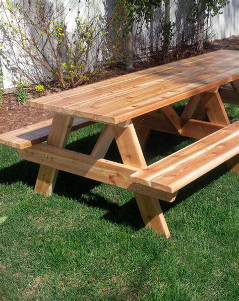 picnic table forest trek woodwork