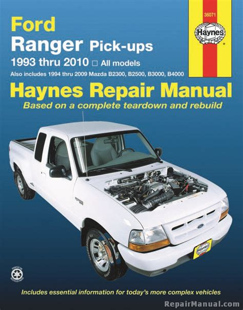 haynes ford ranger pickups   repair manual