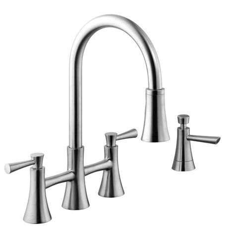 2 handle pull kitchen faucet two handle kitchen faucet with pull sprayer